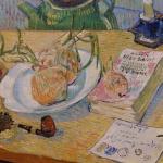 Vincent van Gogh, Stilleven rond een bord met uien, begin januari 1889, olieverf op doek, januari 1889, Kröller-Müller Museum, Otterlo. Foto: Evert-Jan Pol.