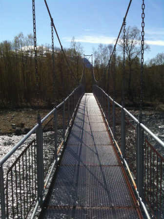 Wiebelbrug in nationaal park Abisko, juni 2012. Foto: Evert-Jan Pol.