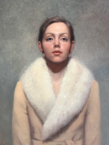 Kathryn Engberg, Zelfportret als 21-jarige, olieverf op paneel, 2015.